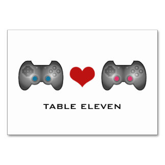 Blue Pink Cute Gamer Table Card
