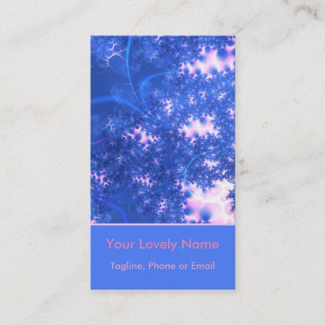 Blue Pink Delicate Cosmic Growth, Osmosis Abstract Business Card
