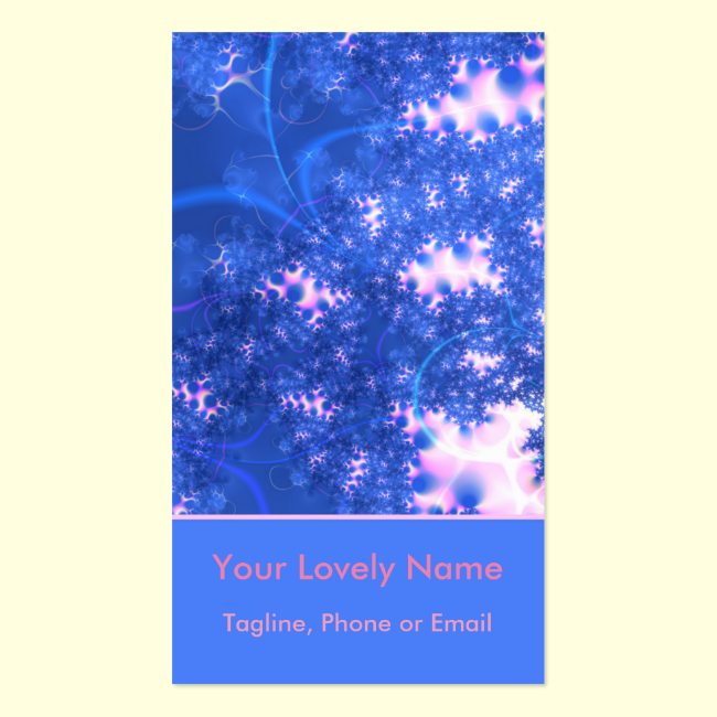 Blue Pink Delicate Cosmic Growth, Osmosis Abstract Double-Sided Standard Business Cards (Pack Of 100)