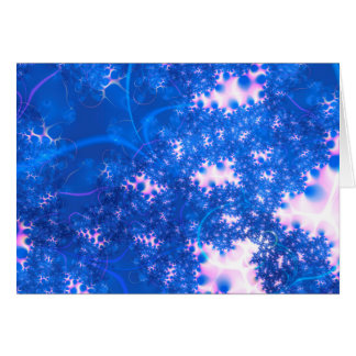 Blue Pink Delicate Cosmic Growth, Osmosis Abstract Card