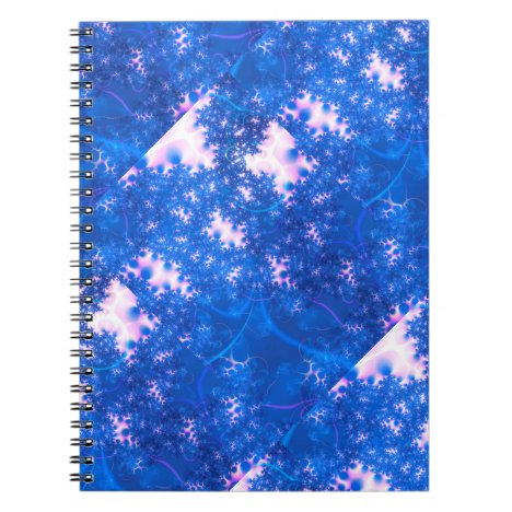 Blue Pink Delicate Cosmic Growth, Osmosis Abstract Notebook