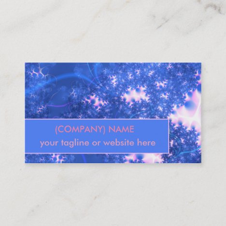 Blue Pink Delicate Cosmic Growth, Osmosis Fractal Business Card