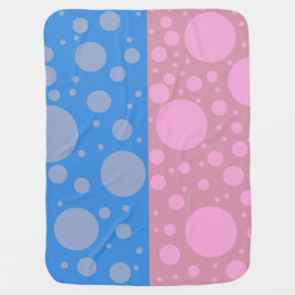 Blue Pink Dots Baby Blanket