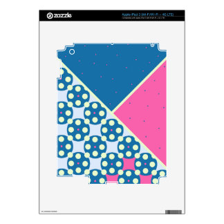 Blue Pink Dots Pattern Decal For iPad 3