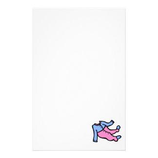 blue & pink footy PJ's Custom Stationery