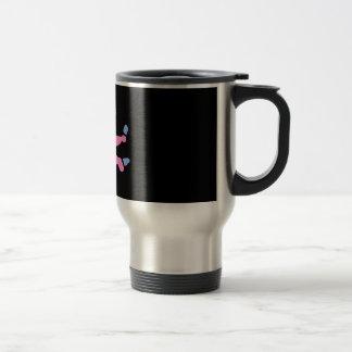 blue & pink footy PJ's Travel Mug