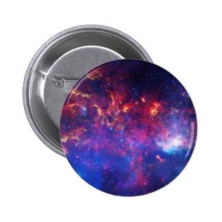 Blue Pink Galaxy Nebula Stars Ultra Violet Fire Button