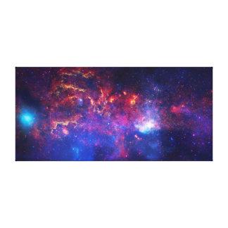 Blue Pink Galaxy Nebula Stars Ultra Violet Fire Canvas Print