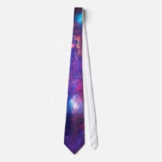 Blue Pink Galaxy Nebula Stars Ultra Violet Fire Neck Tie