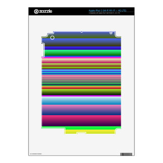 Blue Pink Green Stripes iPad 3 Decal
