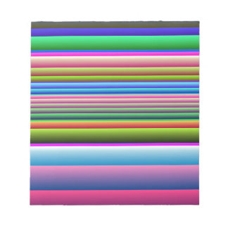 Blue Pink Green Stripes Note Pad