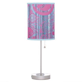 Blue, pink grunge circles design lamp shade.