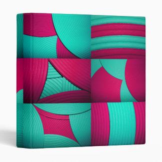 "Blue & Pink Kaleidoscope 1"" Avery Binder"