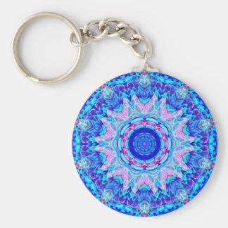 Blue Pink Kaleidoscope Keychain
