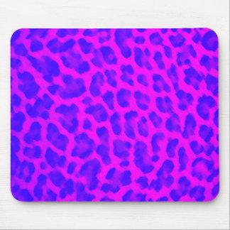 Blue & Pink Leopard Print Mouse Pad