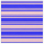 [ Thumbnail: Blue & Pink Lines Pattern Fabric ]