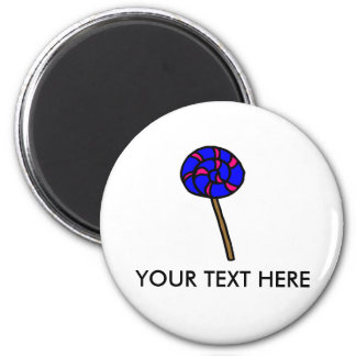 Blue & Pink lolly   magnet