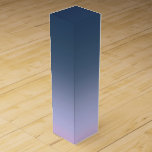 Blue-pink Ombre . Wine Box