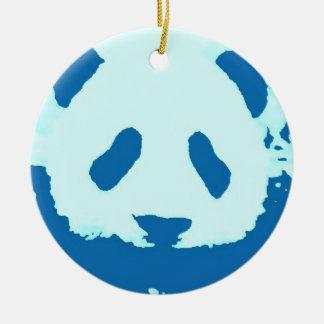 Blue Pink Panda Christmas Tree Ornament