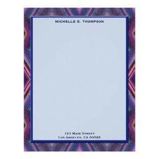 blue pink pattern letterhead