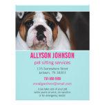 Blue & Pink Photo Pet Sitting Services flyer's 1