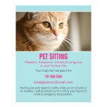 Blue & Pink Photo Pet Sitting Services flyer's 302