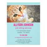 Blue & Pink Photo Pet Sitting Services flyer's 4