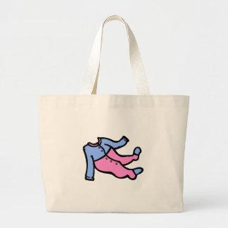 Blue & Pink PJs Jumbo Tote Bag