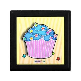 Blue & Pink Pop Art Cupcake Gift Box