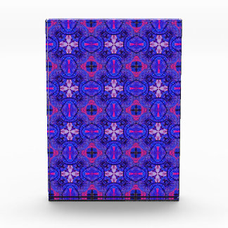 Blue pink purpel checked floral plaid pattern No2 Award