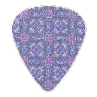 Blue pink purpel checked plaid pattern No1 Acetal Guitar Pick
