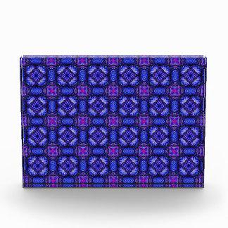 Blue pink purpel checked plaid pattern No1 Award