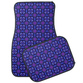 Blue pink purpel checked plaid pattern No1 Car Mat
