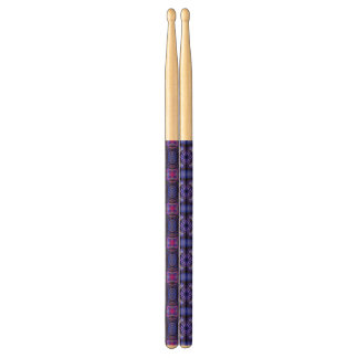 Blue pink purpel checked plaid pattern No1 Drumsticks