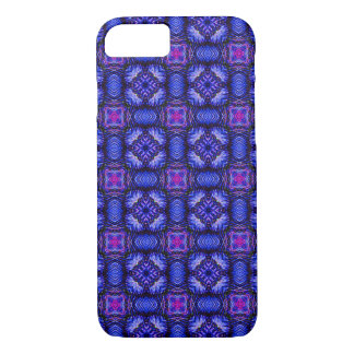 Blue pink purpel checked plaid pattern No1 iPhone 7 Case