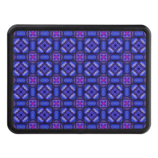 Blue pink purpel checked plaid pattern No1 Trailer Hitch Cover