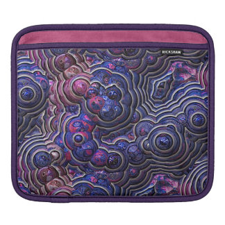 Blue pink purple abstract bubble cells sleeve for iPads