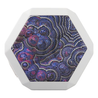 Blue pink purple abstract bubble cells white bluetooth speaker