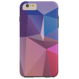 Blue Pink Purple Abstract Pyramid Art Tough iPhone 6 Plus Case