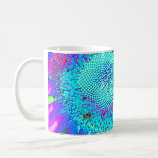 Blue Pink purple Sunflower Coffee Mug