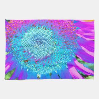 Blue Pink purple Sunflower Towel