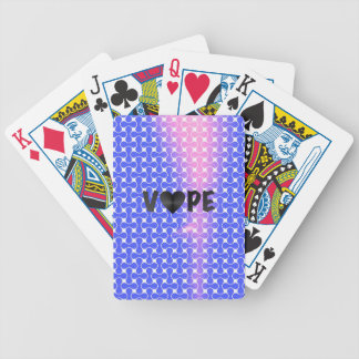 Blue Pink Retro Vape Heart Bicycle Playing Cards