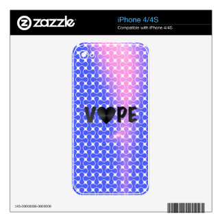 Blue Pink Retro Vape Heart Decals For The iPhone 4S