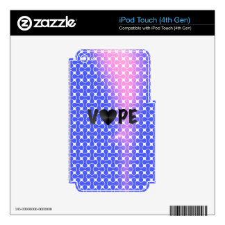 Blue Pink Retro Vape Heart iPod Touch 4G Decal