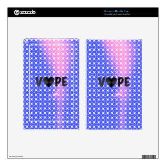 Blue Pink Retro Vape Heart Skin For Kindle Fire