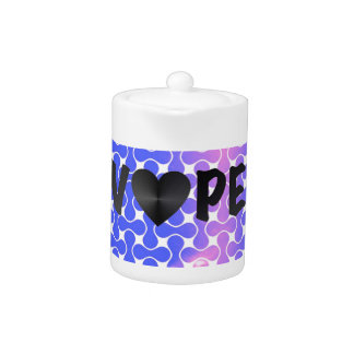 Blue Pink Retro Vape Heart Teapot