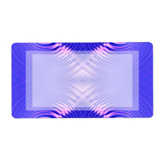 blue pink ripple shipping label