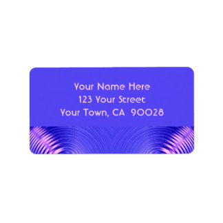 blue pink ripple address label