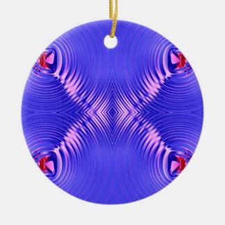 blue pink ripple ornament