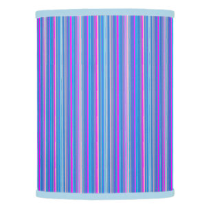 Blue Pink Striped Lamp Shade
